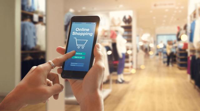 shopping online all'interno di uno store